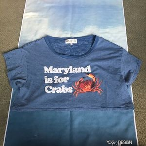 "Wildfox Size Sm ""Maryland is for Crabs"" crop top"